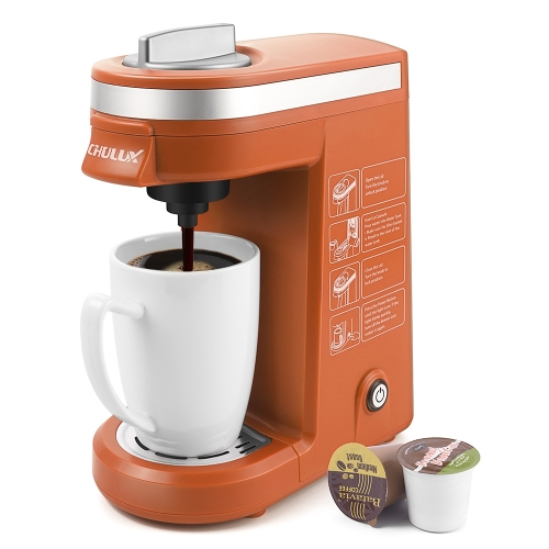 CHULUX Coffee Maker Single-Serve Coffee Machine for Capsule,Orange
